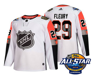 Men's Vegas Golden Knights #29 Marc-Andre Fleury White 2018 NHL All-Star Stitched Ice Hockey Jersey
