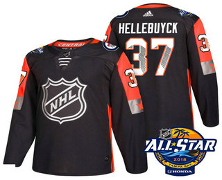 Men's Winnipeg Jets #37 Connor Hellebuyck Black 2018 NHL All-Star Stitched Ice Hockey Jersey