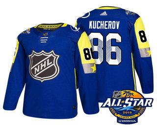 Men's Tampa Bay Lightning #86 Nikita Kucherov Blue 2018 NHL All-Star Stitched Ice Hockey Jersey