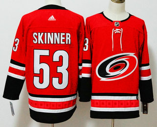 Men's Carolina Hurricanes #53 Jeff Skinner Red 2017-2018 Hockey Stitched NHL Jersey