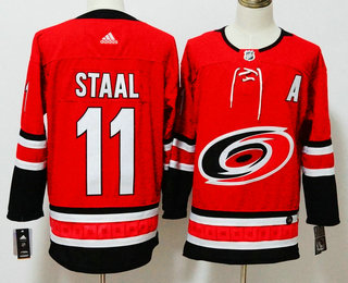 Men's Carolina Hurricanes #11 Jordan Staal Red 2017-2018 Hockey Stitched NHL Jersey