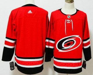 Men's Carolina Hurricanes Blank Red 2017-2018 Hockey Stitched NHL Jersey