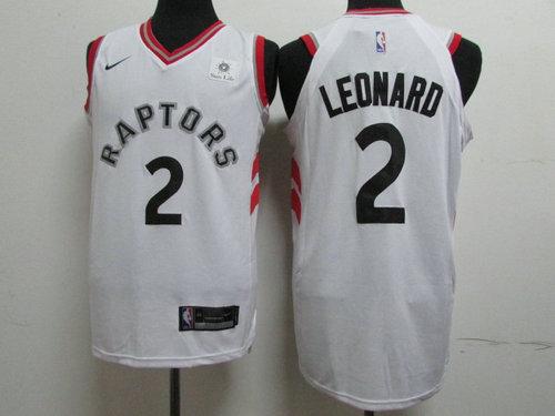 Nike Toronto Raptors 2 Kawhi Leonard White NBA Authentic Association Edition Jersey