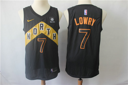 Raptors 7 Kyle Lowry Black City Edition Nike Swingman Jersey