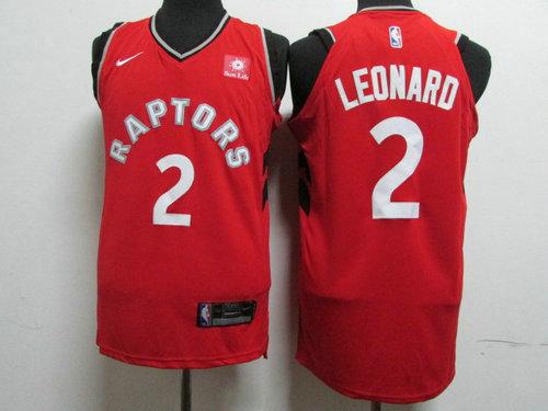 Nike Toronto Raptors 2 Kawhi Leonard Red NBA Authentic Icon Edition Jersey