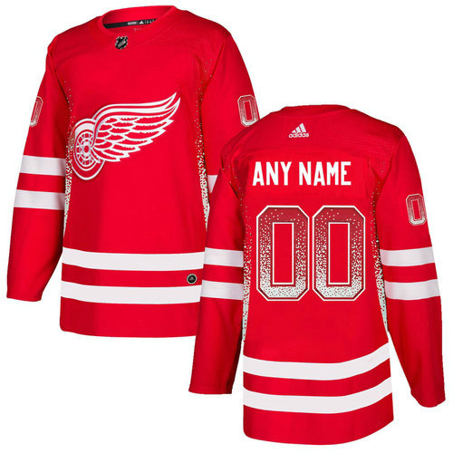 Detroit Red Wings Red Men's Customized Drift Fashion Adidas Jersey