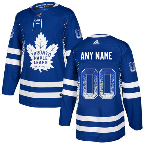 Maple Leafs Blue Men's Customized Drift Fashion Adidas Jersey