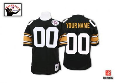 Customized Pittsburgh Steelers Jersey Throwback Black Football Jersey