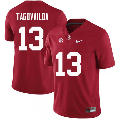 Men's Alabama Crimson Tide #13 Tua Tagovailoa Red NCAA Football Jersey