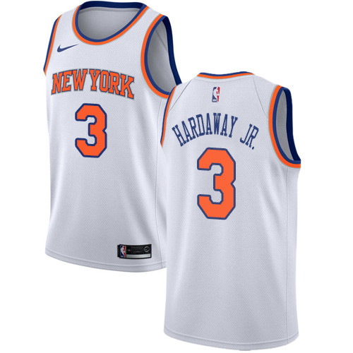 Nike Knicks #3 Tim Hardaway Jr. White NBA Swingman Association Edition Jersey