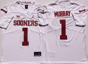 Oklahoma Sooners 1 Kyler Murray White College Football Jersey