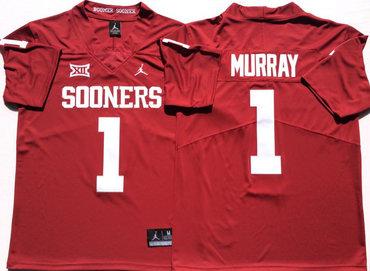 Oklahoma Sooners 1 Kyler Murray Red College Football Jersey