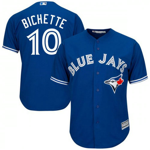 Men's Toronto Blue Jays #10 Bo Bichette Royal Cool Base Jerse