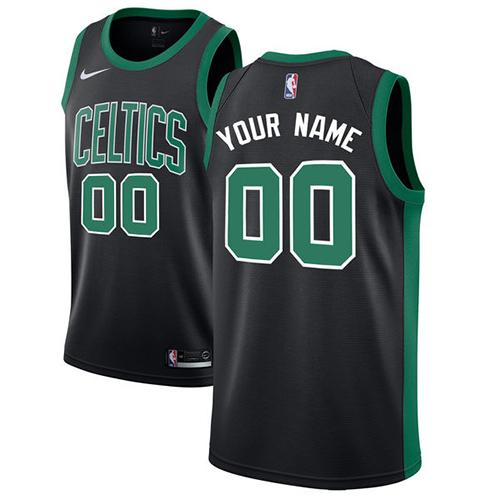 Youth Customized Boston CelticsAuthentic Black Nike NBA Statement Edition Jersey