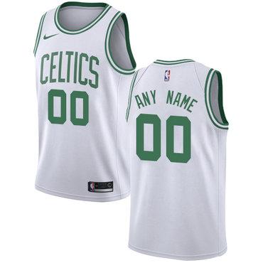 Youth Customized Boston Celtics Authentic White Nike NBA Association Edition Jersey