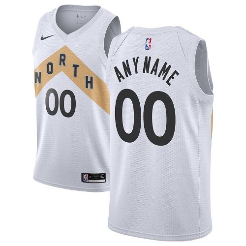 Youth Customized Toronto Raptors Swingman White Nike NBA City Editio Jersey