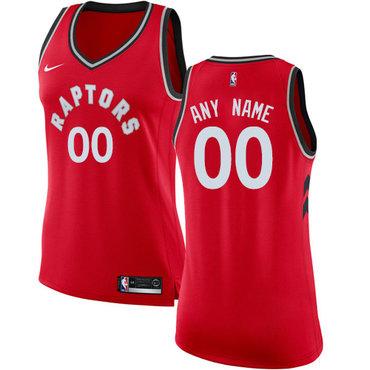 Women's Customized Toronto Raptors Swingman Red Nike NBA Icon Edition Jersey