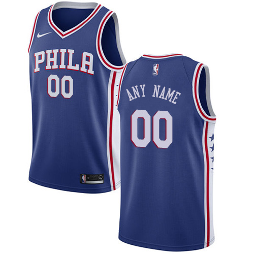 Youth Customized Philadelphia 76ers Swingman Blue Nike NBA Icon Edition Jersey