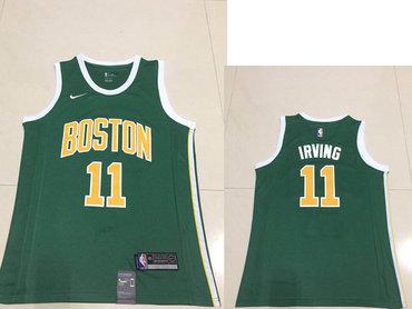 Men's Boston Celtics Kyrie #11 Irving Nike Green 2018/19 Swingman Earned Edition Jersey