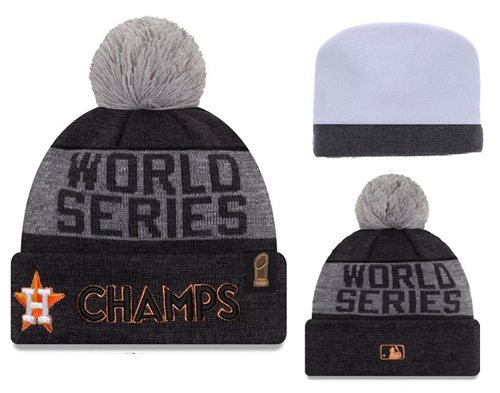 MLB Houston Astros Logo Stitched Knit Beanies 003