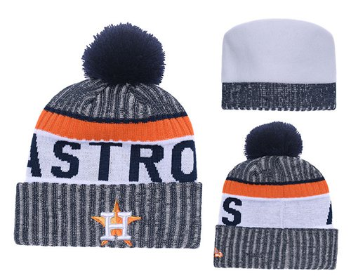 MLB Houston Astros Logo Stitched Knit Beanies 004