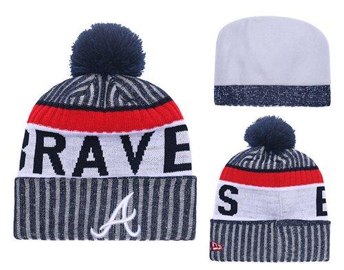 MLB Atlanta Braves Logo Stitched Knit Beanies 005