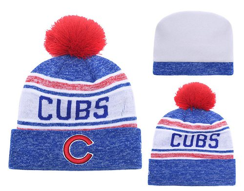 MLB Chicago Cubs Logo Stitched Knit Beanies 007