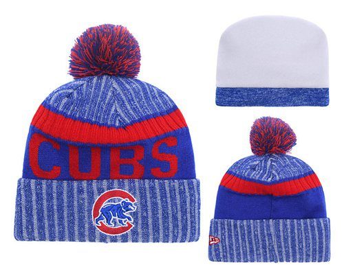MLB Chicago Cubs Logo Stitched Knit Beanies 006