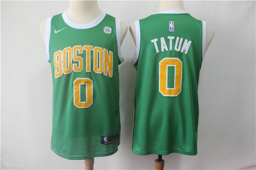 Nike Celtics 0 Jayson Tatum Green Stitched 2019 Swingman Earned Edition Jersey