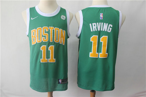 Boston Celtics 11 Kyrie Irving Nike Green 2018-19 Swingman Earned Edition Jersey