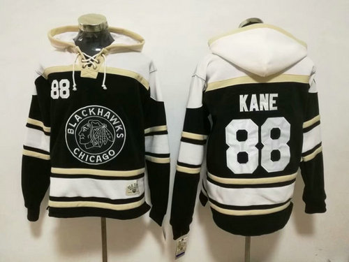 Chicago Blackhawks #88 Patrick Kane 2019 Winter Classic Authentic Black All Stitched Hoodie