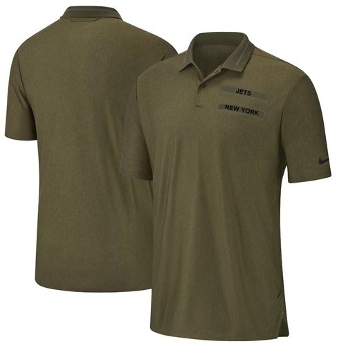 New York Jets Nike Salute to Service Sideline Polo Olive