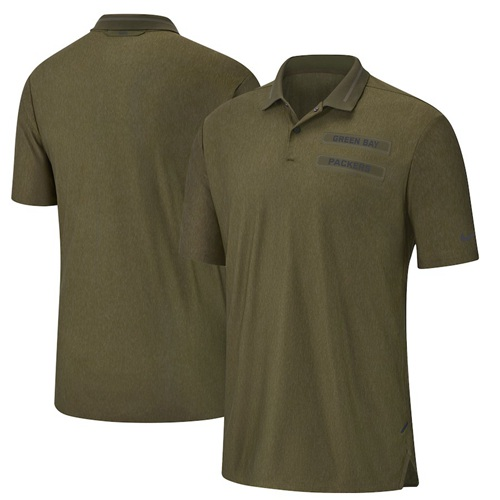 Green Bay Packers Nike Salute to Service Sideline Polo Olive