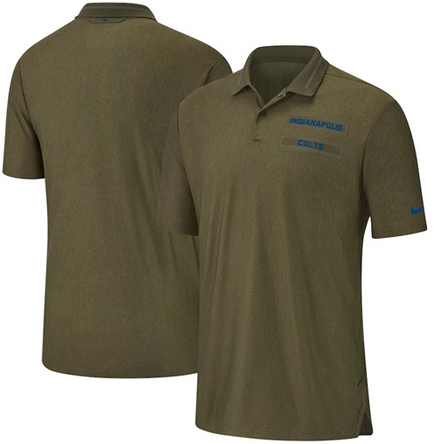 Indianapolis Colts Nike Salute to Service Sideline Polo Olive