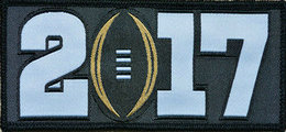 2017 College National Championship Playoff Game Jersey Patch Black