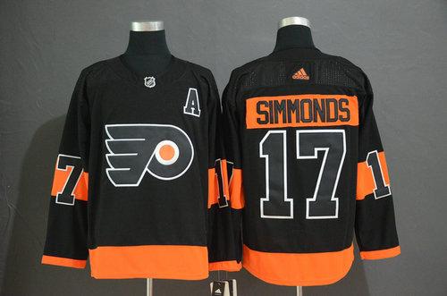 Men's Philadelphia Flyers #17 Wayne Simmonds Black Alternate Adidas Jersey
