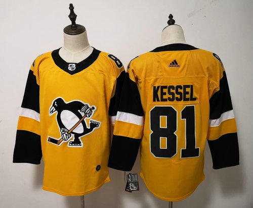 Adidas Pittsburgh Penguins #81 Phil Kessel Yellow Alternate Stitched NHL Jersey
