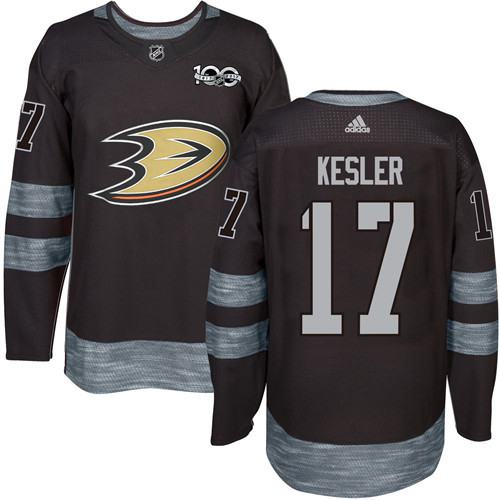 Adidas Ducks #17 Ryan Kesler Black 1917-2017 100th Anniversary Stitched NHL Jersey
