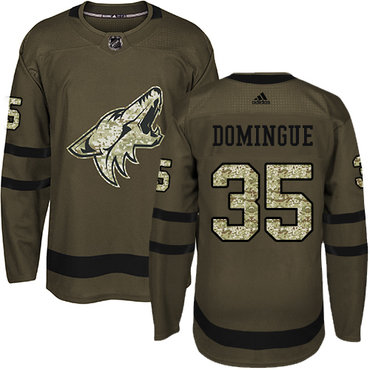 Adidas Coyotes #35 Louis Domingue Green Salute to Service Stitched NHL Jersey