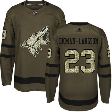 Adidas Coyotes #23 Oliver Ekman-Larsson Green Salute to Service Stitched NHL Jersey