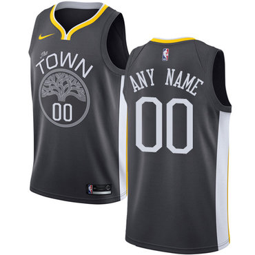 Youth Golden State Warriors Swingman Black Statement Edition Nike NBA Alternate Customized Jersey