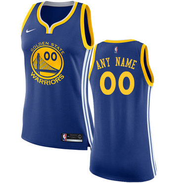 Women's Customized Golden State Warriors Authentic Royal Blue Icon Edition Nike NBA Road Women's Jersey