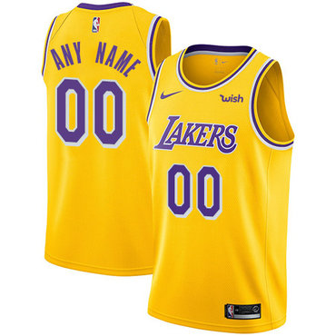 Youth Los Angeles Lakers Swingman Gold Icon Edition Nike NBA Customized Jersey