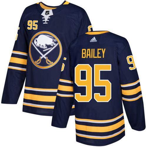 Adidas Sabres #95 Justin Bailey Navy Blue Home Authentic Stitched NHL Jersey