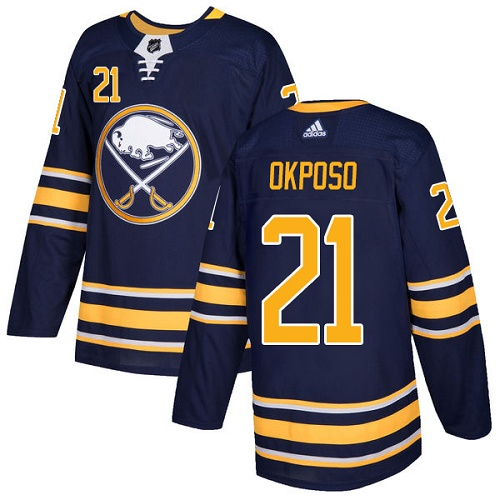 Adidas Sabres #21 Kyle Okposo Navy Blue Home Authentic Stitched NHL Jersey