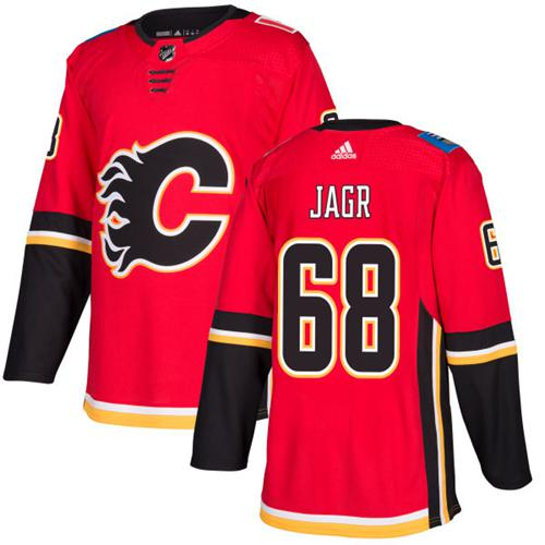 Adidas Flames #68 Jaromir Jagr Red Home Authentic Stitched NHL Jersey