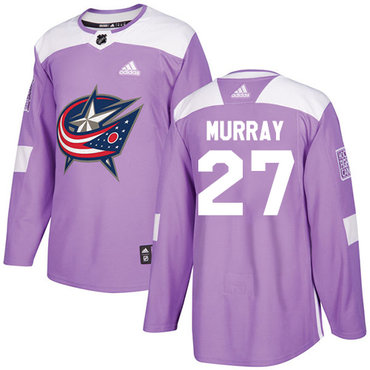 Adidas Blue Jackets #27 Ryan Murray Purple Authentic Fights Cancer Stitched NHL Jersey