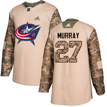Adidas Blue Jackets #27 Ryan Murray Camo Authentic 2017 Veterans Day Stitched NHL Jersey