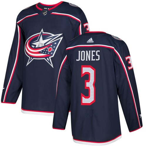 Adidas Blue Jackets #3 Seth Jones Navy Blue Home Authentic Stitched NHL Jersey