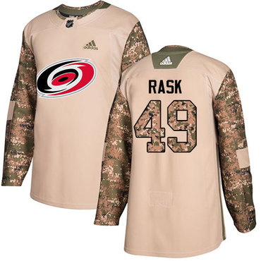 Adidas Hurricanes #49 Victor Rask Camo Authentic 2017 Veterans Day Stitched NHL Jersey